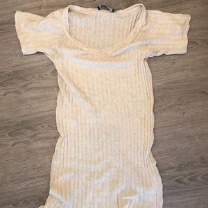 Reformation oatmeal dress size small